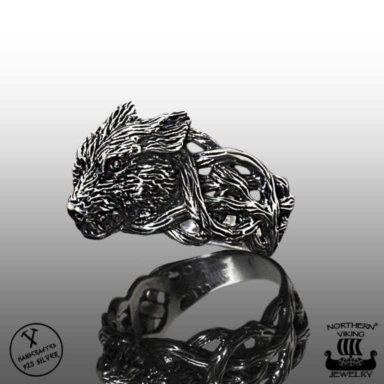 "NORTHERN VIKING JEWELRY ""FENRIR WOLF"" SORMUS"