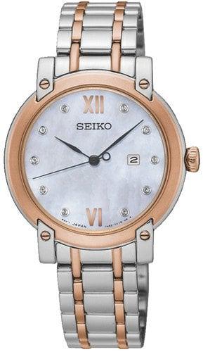 SEIKO SXDG86P1 LADY DIAMONDS STEEL/ROSE