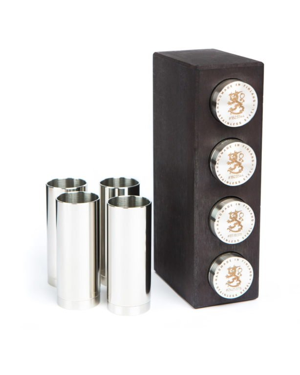 UKKO SCHNAPPS BIRCH CASE FOR 4 LEIJONA